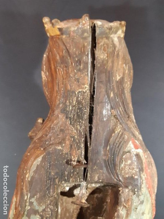 Arte: Santa Bárbara. Talla de madera policromada. Gótico. - Foto 30 - 197189278
