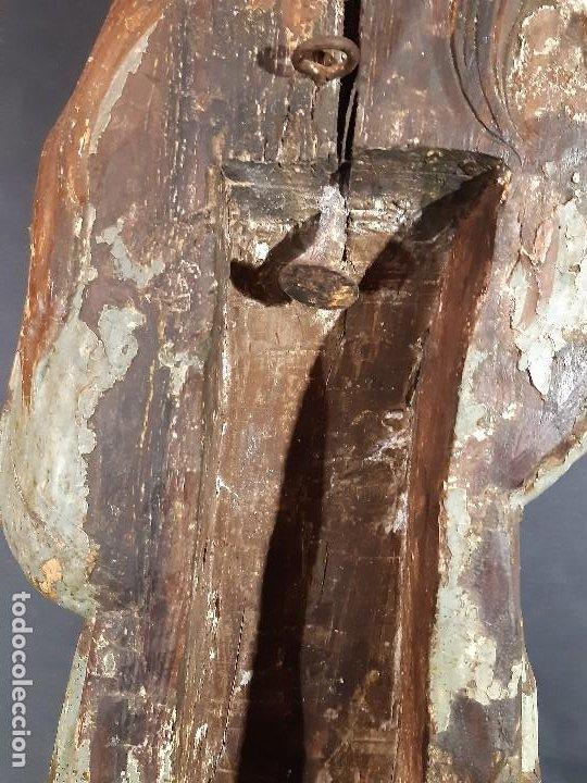 Arte: Santa Bárbara. Talla de madera policromada. Gótico. - Foto 31 - 197189278