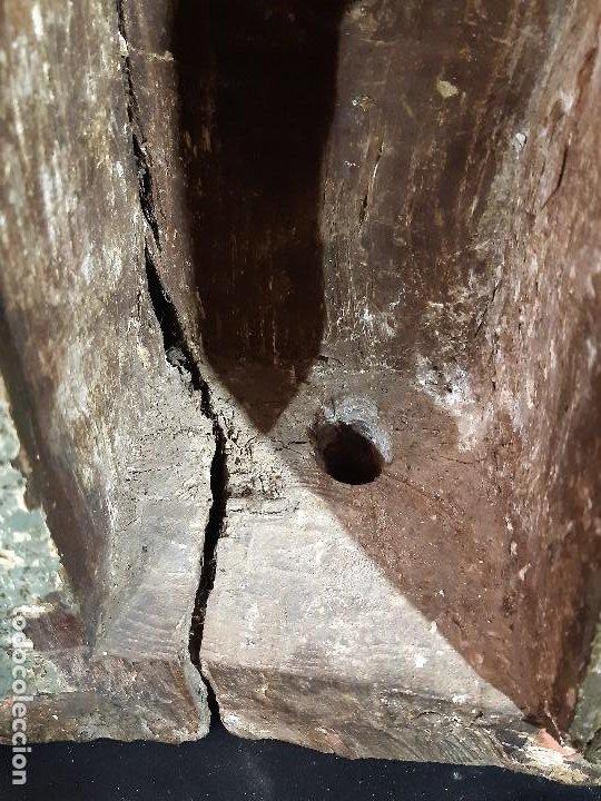 Arte: Santa Bárbara. Talla de madera policromada. Gótico. - Foto 36 - 197189278