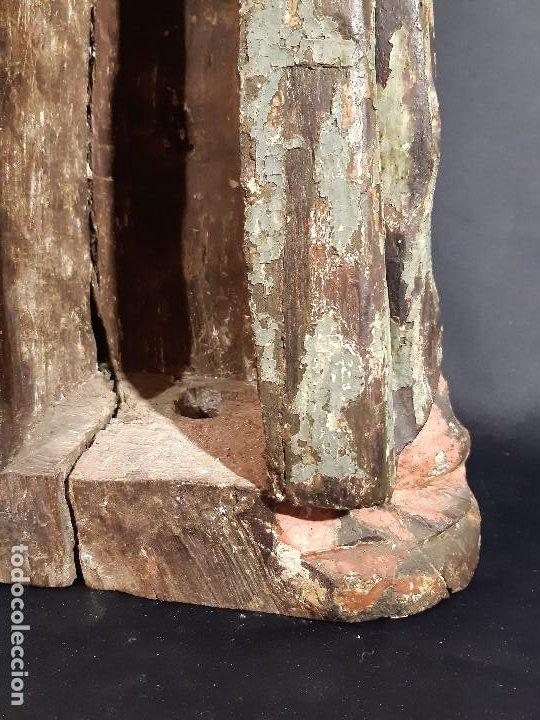 Arte: Santa Bárbara. Talla de madera policromada. Gótico. - Foto 39 - 197189278