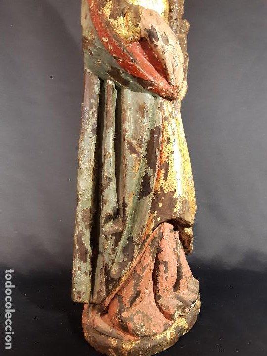 Arte: Santa Bárbara. Talla de madera policromada. Gótico. - Foto 41 - 197189278