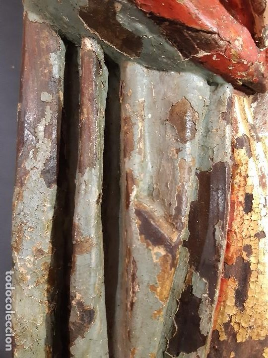 Arte: Santa Bárbara. Talla de madera policromada. Gótico. - Foto 46 - 197189278