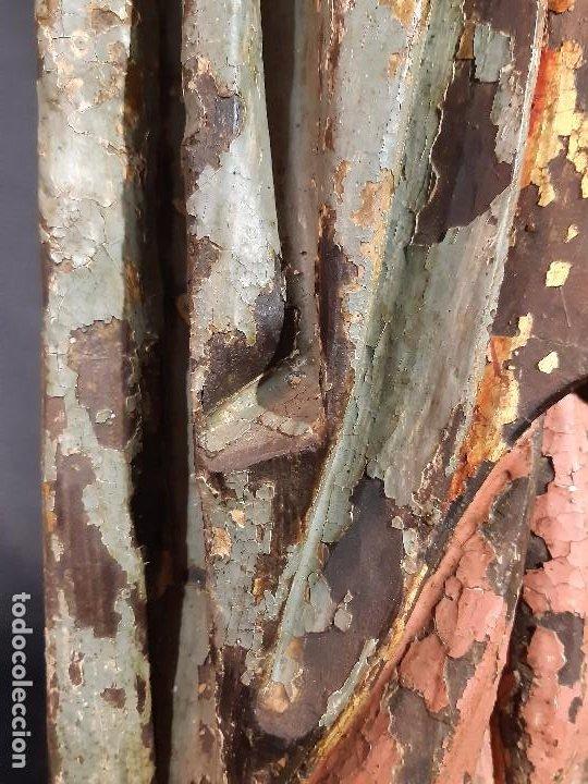 Arte: Santa Bárbara. Talla de madera policromada. Gótico. - Foto 47 - 197189278