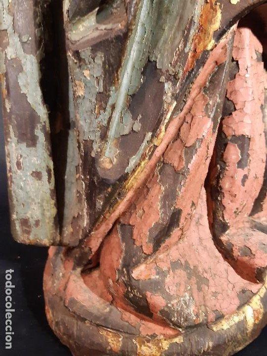 Arte: Santa Bárbara. Talla de madera policromada. Gótico. - Foto 48 - 197189278