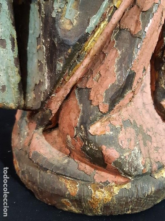 Arte: Santa Bárbara. Talla de madera policromada. Gótico. - Foto 49 - 197189278