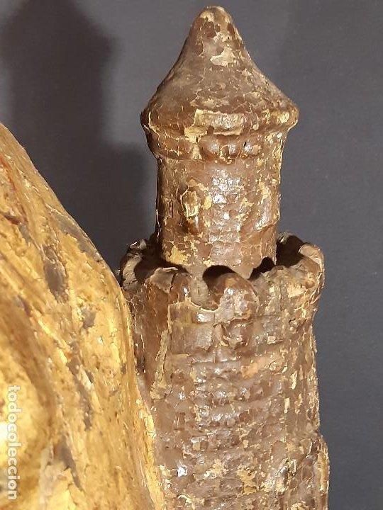 Arte: Santa Bárbara. Talla de madera policromada. Gótico. - Foto 51 - 197189278