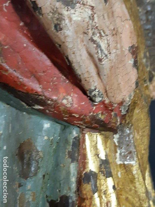 Arte: Santa Bárbara. Talla de madera policromada. Gótico. - Foto 53 - 197189278