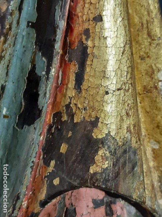 Arte: Santa Bárbara. Talla de madera policromada. Gótico. - Foto 54 - 197189278