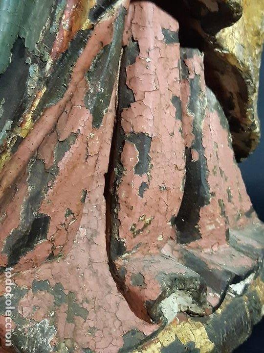 Arte: Santa Bárbara. Talla de madera policromada. Gótico. - Foto 55 - 197189278
