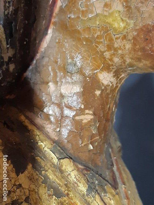 Arte: Santa Bárbara. Talla de madera policromada. Gótico. - Foto 56 - 197189278