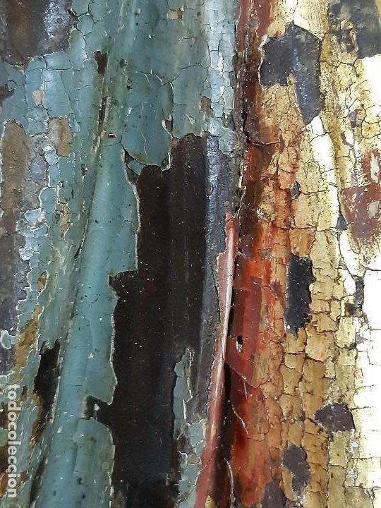 Arte: Santa Bárbara. Talla de madera policromada. Gótico. - Foto 58 - 197189278