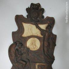 Arte: RETABLO MODERNISTA - ESTUCO DORADO - SELLO TALLER IMÁGENES RELIGIOSAS L. VENTOLA-PLANA, OLOT. Lote 197294928