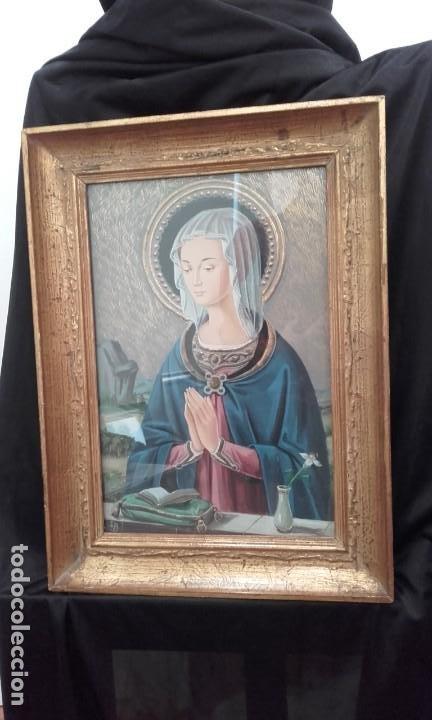 BELLÍSIMA MADONNA ESTILO RENACIMIENTO ITALIANO (Arte - Arte Religioso - Pintura Religiosa - Oleo)