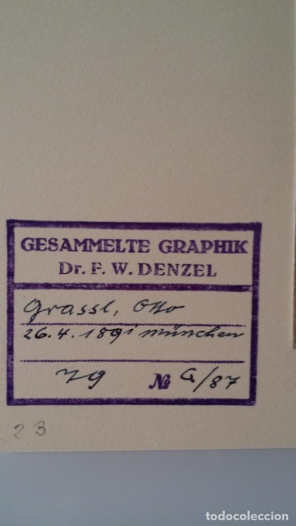 Arte: Otto Grassl (1891-1976). La Oración, acuarela y dibujo de 1940. - Foto 7 - 197468500