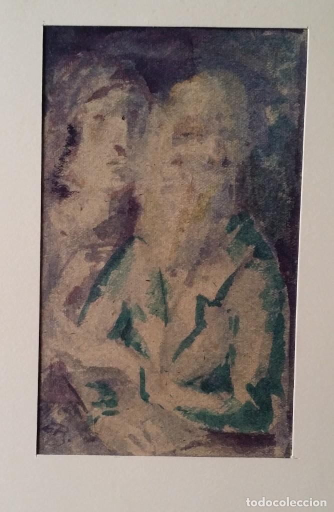 Arte: Otto Grassl (1891-1976). La Oración, acuarela y dibujo de 1940. - Foto 9 - 197468500
