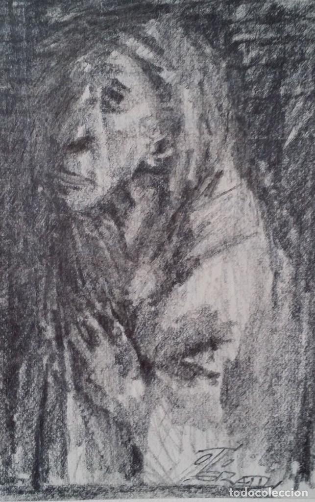 Arte: Otto Grassl (1891-1976). La Oración, acuarela y dibujo de 1940. - Foto 11 - 197468500