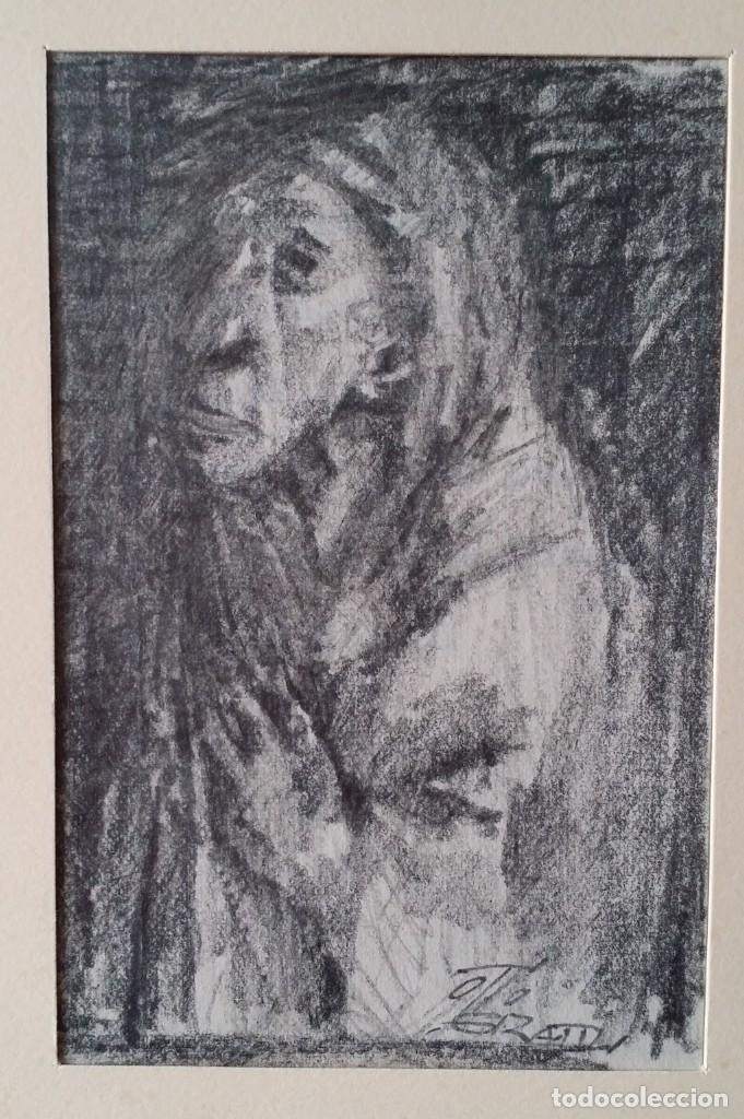 Arte: Otto Grassl (1891-1976). La Oración, acuarela y dibujo de 1940. - Foto 12 - 197468500