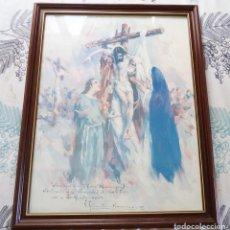 Arte: CUADRO DESCENDIMIENTO JESUS DEDICADO HERMANDAD S. CRUZ VICENTE SANCHEZ NAVARRO 1996 ALICANTE 62/42. Lote 197524638