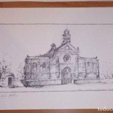 Arte: LITOGRAFÍA REUS, SANTUARI DE MISERICORDIA ANY 1905. FIRMADO NÚRIA MUSTÉ. NÚMERO 126 DE 200. Lote 197698890