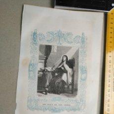 Arte: HAGA SU OFERTA - GRABADO RELIGIOSO ORIGINAL ORLA CIRCA AÑO 1850 - SANTA TERESA VIRGEN. Lote 197826872