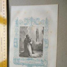 Arte: HAGA SU OFERTA - GRABADO RELIGIOSO ORIGINAL ORLA CIRCA AÑO 1850 - VIRGEN DEL PILAR . Lote 197827266