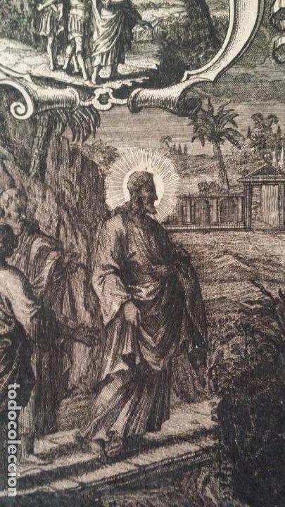 Arte: I.A. Fridrich, Cristo devoto, Jesús en la cruz, dos grabados de 1720 - Foto 4 - 198181972