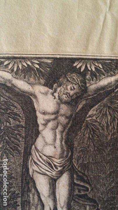 Arte: I.A. Fridrich, Cristo devoto, Jesús en la cruz, dos grabados de 1720 - Foto 8 - 198181972