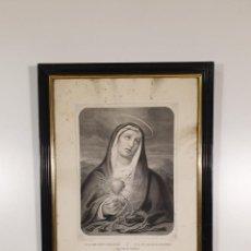 Arte: GRABADO Nª. Sª. DE LOS SIETE DOLORES - L. TURGIS, PARÍS IMP, EDITOR - A NEW YORK - S. XIX. Lote 198261312