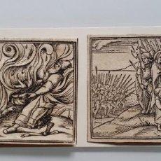 Arte: 2 XILOGRAFIAS DEL EXODO, 1530 / MOISÉS ABRIENDO LAS AGUAS. Lote 198317857