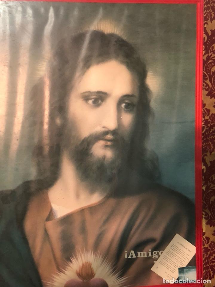 Arte: Bonito póster de un sagrado corazón, gran tamaño - Foto 2 - 198365725