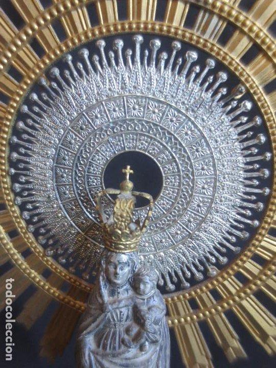 Arte: ESCULTURA VIRGEN DEL PILAR CON COLUMNA Y BASE DE MARMOL - Foto 13 - 198404423