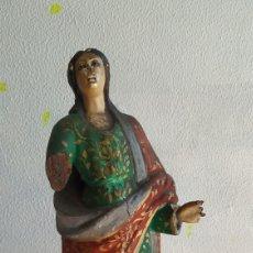 Arte: PRECIOSA TALLA ANTIGUA DE MADERA. FIGURA RELIGIOSA ANTIGUA.. Lote 198411776