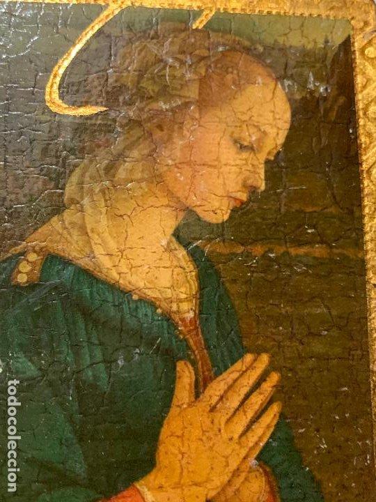 Arte: Antiguo pequeño icono de altar. Virgen. Mide aprox 7,5x9,5cms - Foto 3 - 198460233