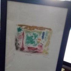 Arte: GRABADO ENMARCADO EL Nº 55 DE 100 DESCONOCIDO PARA MI MEDIDA 38 X 29. Lote 198477558