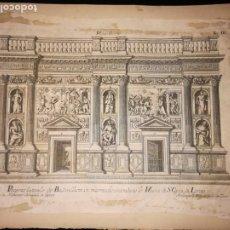 Arte: EXCEPCIONAL GRABADO ITALIANO DE LA SANTA CASA DEL LORETO. ARCANGELO MAGINI, 1796.. Lote 198504182