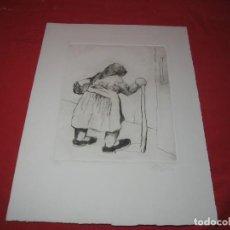 Arte: LITOGRAFIA DE ANCIANA CON NUMERO Y FIRMADA. Lote 198508855