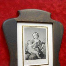 Arte: THE MADONNA AND CHILD DE RAFHAEL SANZIO GRABADO S. XIX. Lote 198833716