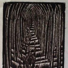 Arte: XILOGRAFÍA FIRMADA A LÁPIZ, EXPRESIONISMO: PROCESIÓN. Lote 198841360