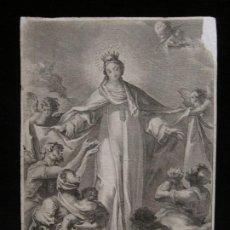 Arte: ADORACIÓN DE LA VIRGEN. Lote 198887658
