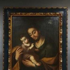 Arte: OLEO SAN JOSE CON JESUS EN BRAZOS. Lote 184523617