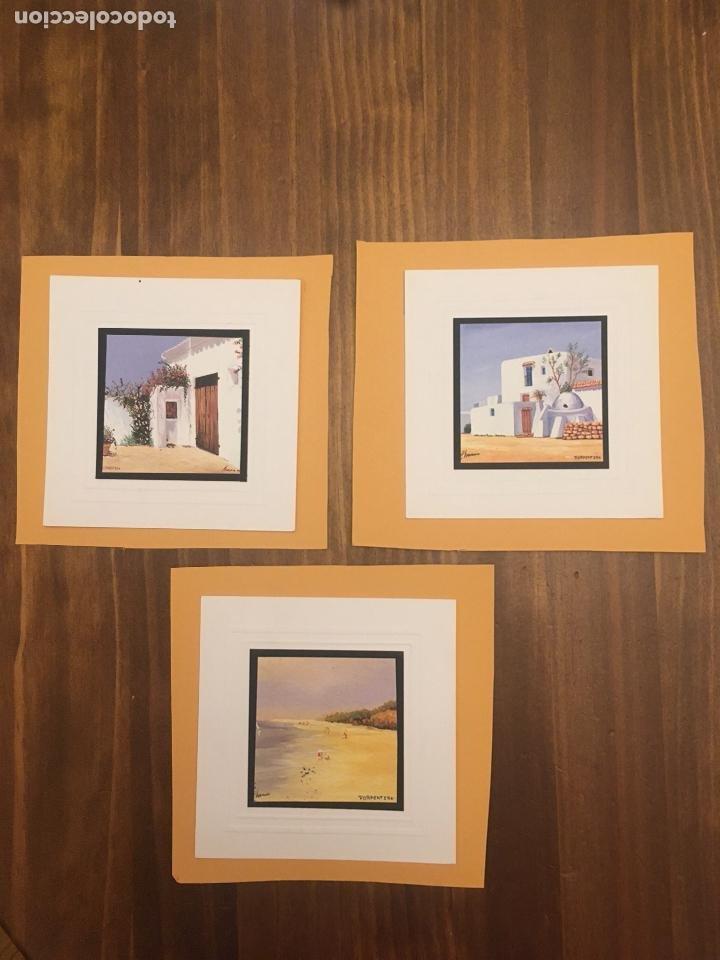 3 MINIATURA TÉCNICA MIXTA TEMPERA-ACUARELA (Arte - Arte Religioso - Pintura Religiosa - Acuarela)