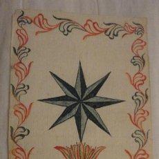 Art: (RESERVADO) DIBUJO A MANO ESTRELLA DE 8 PUNTAS.USO REVERENDA MADRE MARIA LOZANO AÑO 1802. Lote 199043981