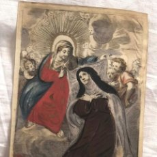 Arte: GRABADO RELIGIOSO SANTA MARIA MAGDALENA. SIGLO XVII. RAREZA. Lote 199199498