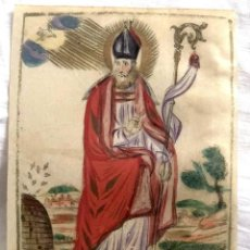 Arte: GRABADO RELIGIOSO S. AMBROSIO. SIGLO XVII. RAREZA. Lote 199199650