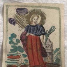 Arte: GRABADO RELIGIOSO SANTA BARBARA, VIRGO ET MARTIR. SIGLO XVII. RAREZA. Lote 199200650