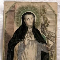 Arte: GRABADO RELIGIOSO S. GERTRUDIS, SIGLO XVII. RAREZA. Lote 199202721