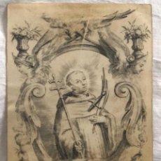 Arte: GRABADO RELIGIOSO S. ENGELBERTUS, SIGLO XVIII. RAREZA. Lote 199203503