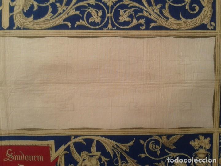 Arte: Grabado s.XIX Sábana Santa de Turín. Regalo invitados enlace real Victor Manuel III de Saboya. 1898 - Foto 5 - 199239845