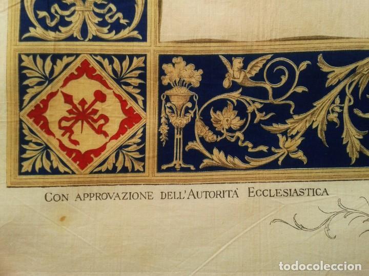 Arte: Grabado s.XIX Sábana Santa de Turín. Regalo invitados enlace real Victor Manuel III de Saboya. 1898 - Foto 6 - 199239845