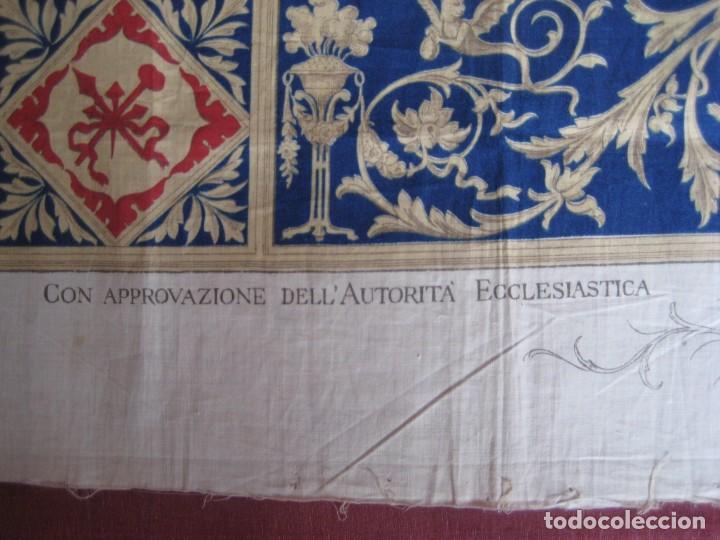 Arte: Grabado s.XIX Sábana Santa de Turín. Regalo invitados enlace real Victor Manuel III de Saboya. 1898 - Foto 13 - 199239845
